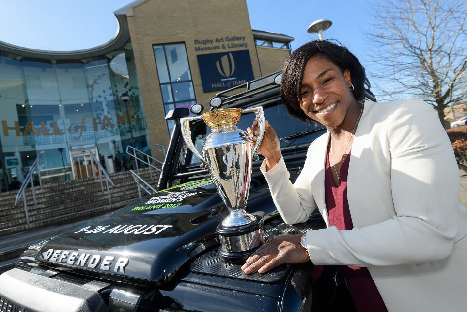 World Rugby's Hall of Fame in Rugby provided the departure point for the Women's Rugby World Cup trophy as it heads across the Irish Sea for more than four months of activities across the island of Ireland.