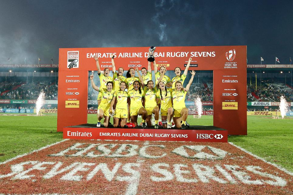 Australia beat USA to win first round of the HSBC World Rugby Women's Sevens Series 2018 in Dubai